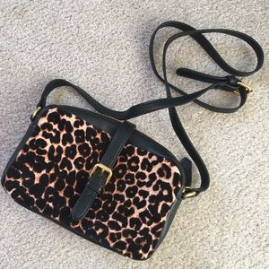 Leopard Print Crossbody Purse
